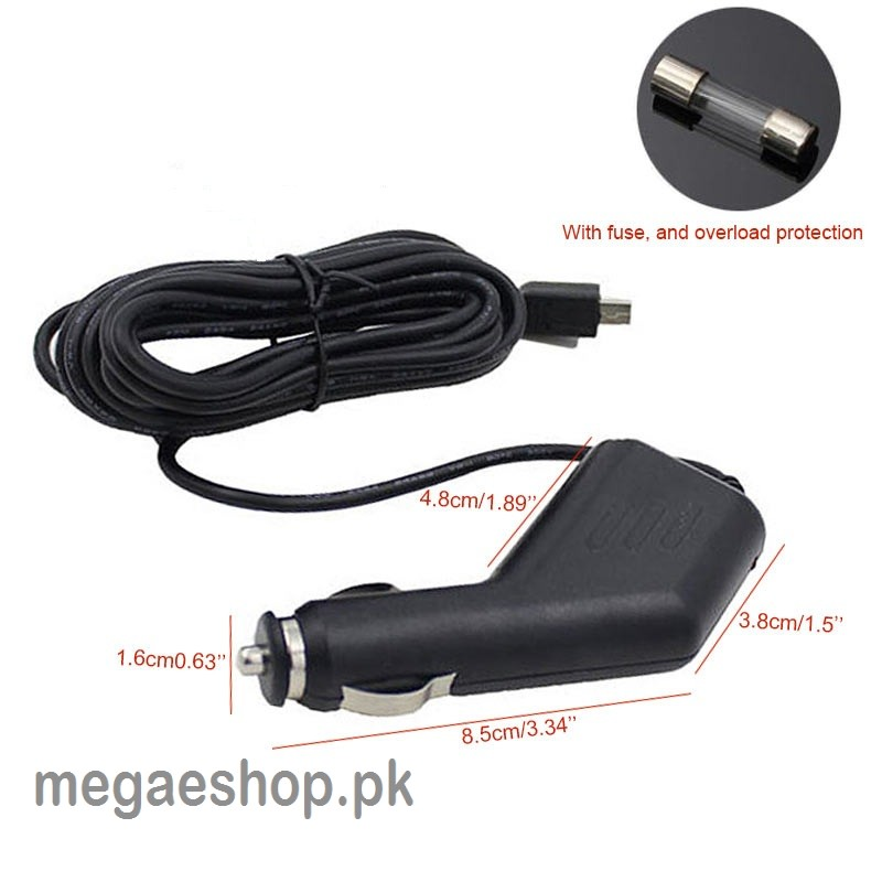 Car Charger Adapter 2.0A Micro USB with 1.5m Cable for Travelling