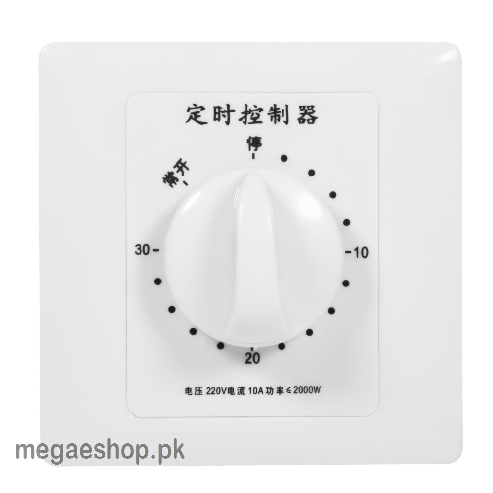 AC 220V 10A 30/60/120 Minute Time Countdown Intelligent Timer Switch Control Socket