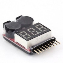 1-8S Lipo/Li-ion/Fe Battery Low Voltage Meter Tester Buzzer Alarm