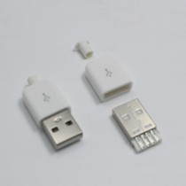 DIY USB 5Pin Welding Type Male Plug Connector 3 in 1 Nickel-plated Adapter
