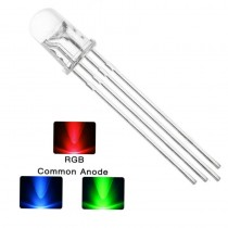 4 Pins RGB Light LED Diode Round Head 5mm Dia Frosted