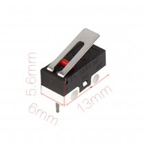Short Hinge Lever 3 Bent Pin SPDT Momentary Micro Switch 1A 125VAC