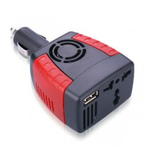 Car DC 12V to AC 220V 75W Power Inverter Adapter USB 5V