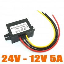 24V TO 12V 5A 60W DC-DC Converter Step Down  Waterproof Power Supply