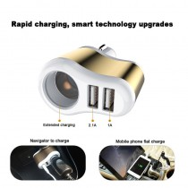 Universal Auto 3.1A Dual USB Car Charger One Way 12V-24V Car Cigarette Lighter Socket Adapter Charger