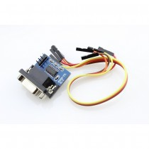 Male MAX3232 RS232 to TTL Serial Port Converter Module DB9 Connector with wires