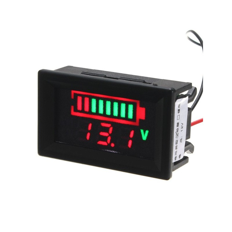 Electronic Tester Showing Failure Lights : V acid lead batteries led indicator battery capacity