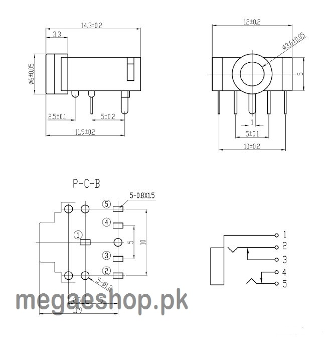 3 5mm 4 pole male repair headphone jack plug  diagram