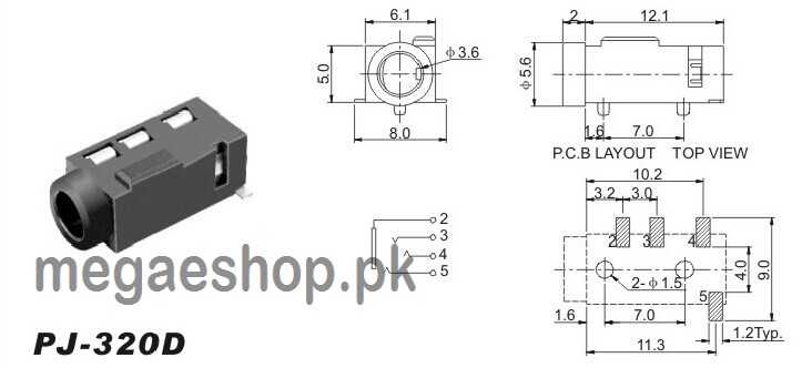 3.5 Mm Female Jack Wiring Diagram from megaeshop.pk