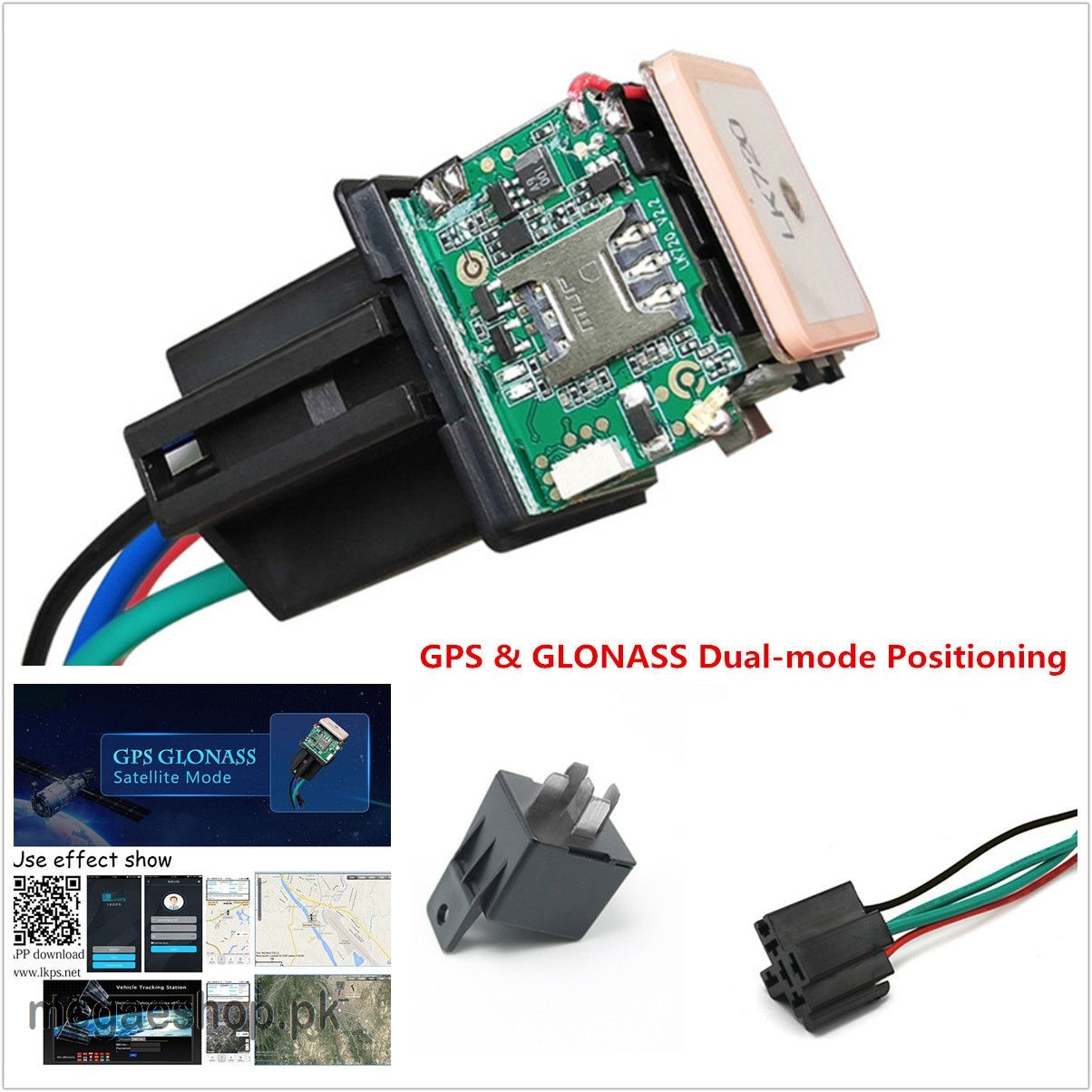 Car Tracking GPS Tracker Device geo fencing Anti-theft Monitoring Cut off  oil power System APP