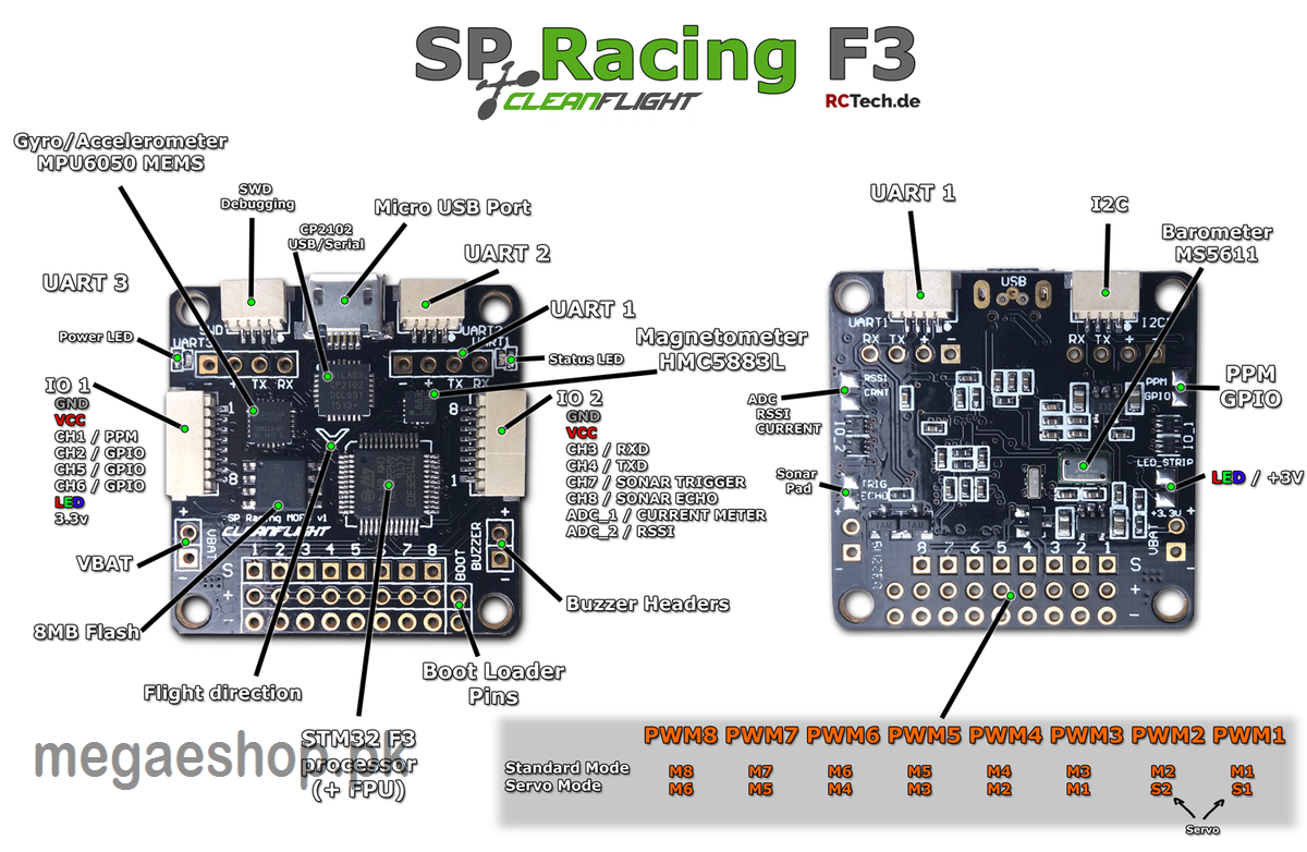 F3 Flight Controller Sp Acro Pro Racing Cleanflight Perfect For Mini Wiring Diagram 250 Quadcopter More Views