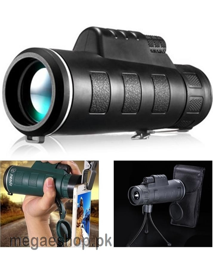 Panda HD Dual Focus Optical Monocular Telescope With Tripod & Mobile Clip For Travel & Camping