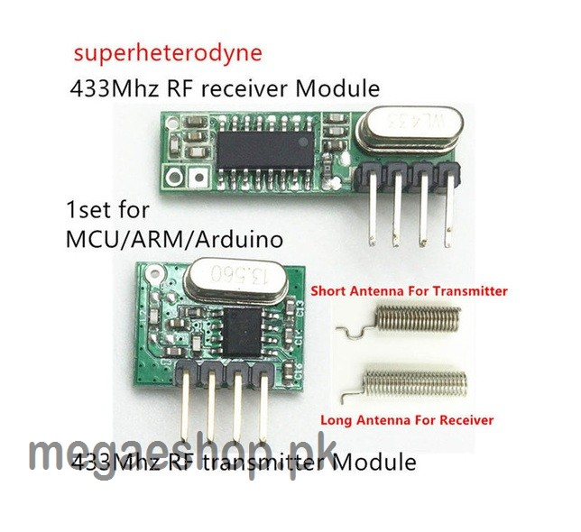 RF module 433 Mhz superheterodyne receiver and transmitter kit with antenna  Diy kits for Remote control
