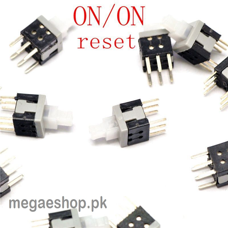 Tactile Push button Key Switch Tact self lock 6 Pins On/Off button Latching switch