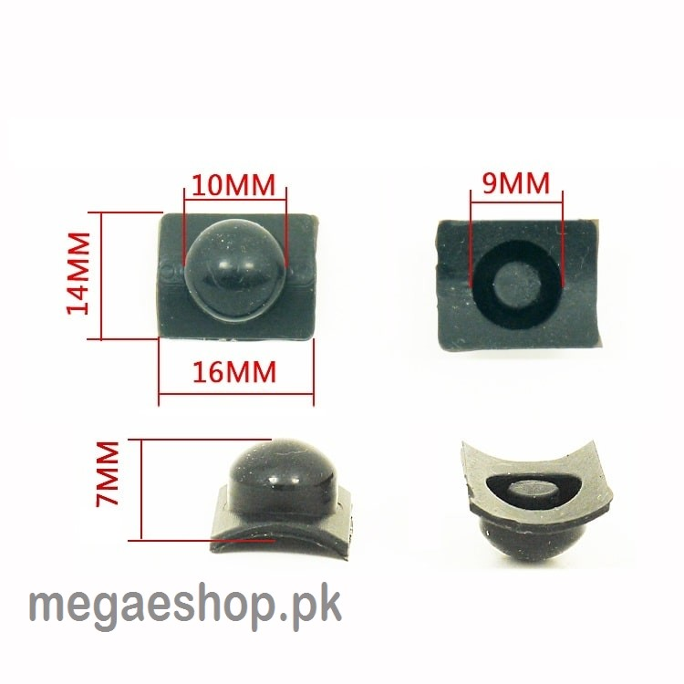 Rubber Button Flashlight Switch Cap Electronic DIY Parts Accessories for LED Torch
