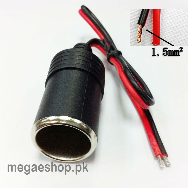 Female 12V-24V Car Cigarette Lighter Socket