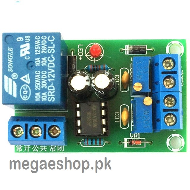 12V Battery Intelligent Automatic Charging Controller Board Anti-overcharge Protection Relay Module