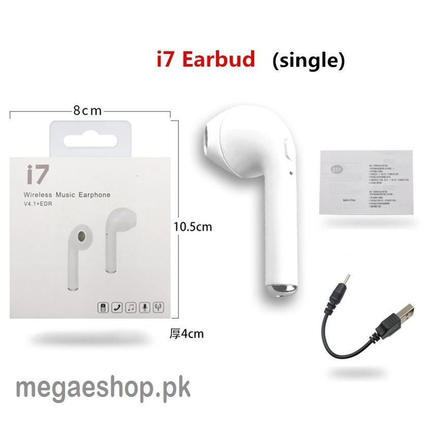 i7 Wireless Music Earphone - White