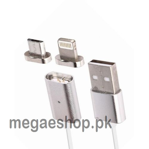 2 in 1 Magnetic Charging Cable Lead for iPhone & Android
