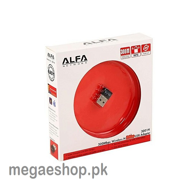 Mini Alfa 300Mbps Wireless USB Adapter (3001N)