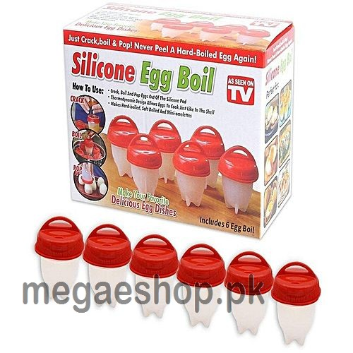 Silicone Egglettes Egg Cooker Hard Boiled Eggs without the Shell