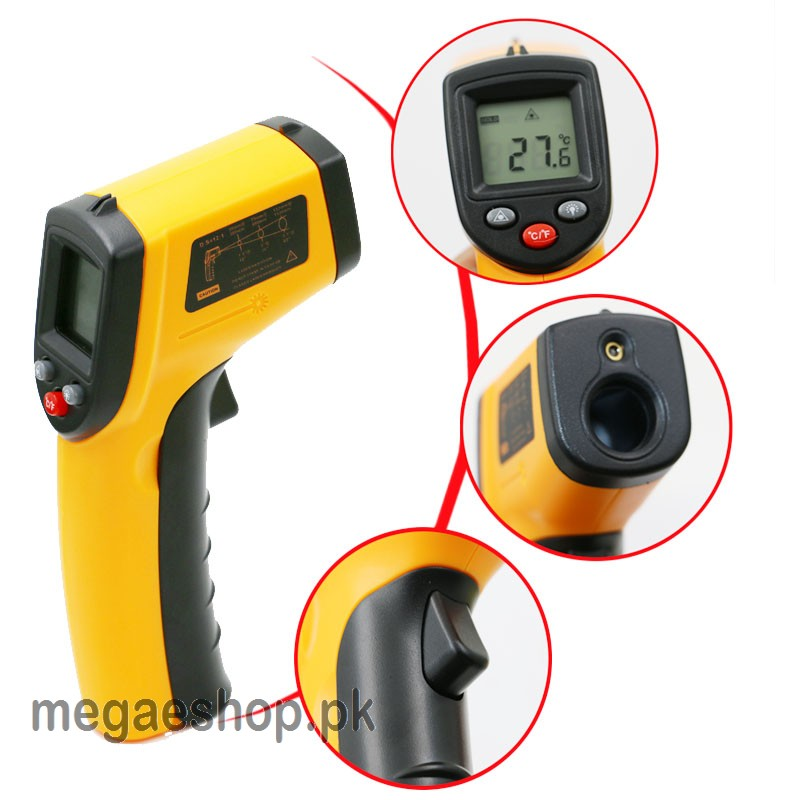 Infrared Thermometer Laser Temperature Tester Non-contact