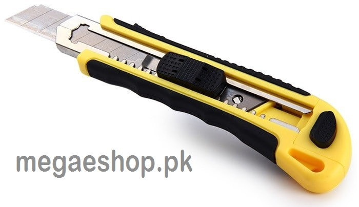 KEBO Knife Box Cutter Snap off Razor Knife with 3 Blades and Safety Lock System