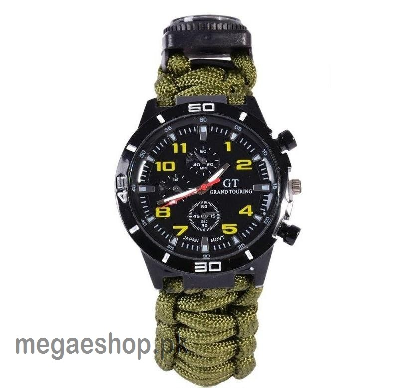 Yuzex Paracord Watch 6 in 1 Outdoor Camping Survival