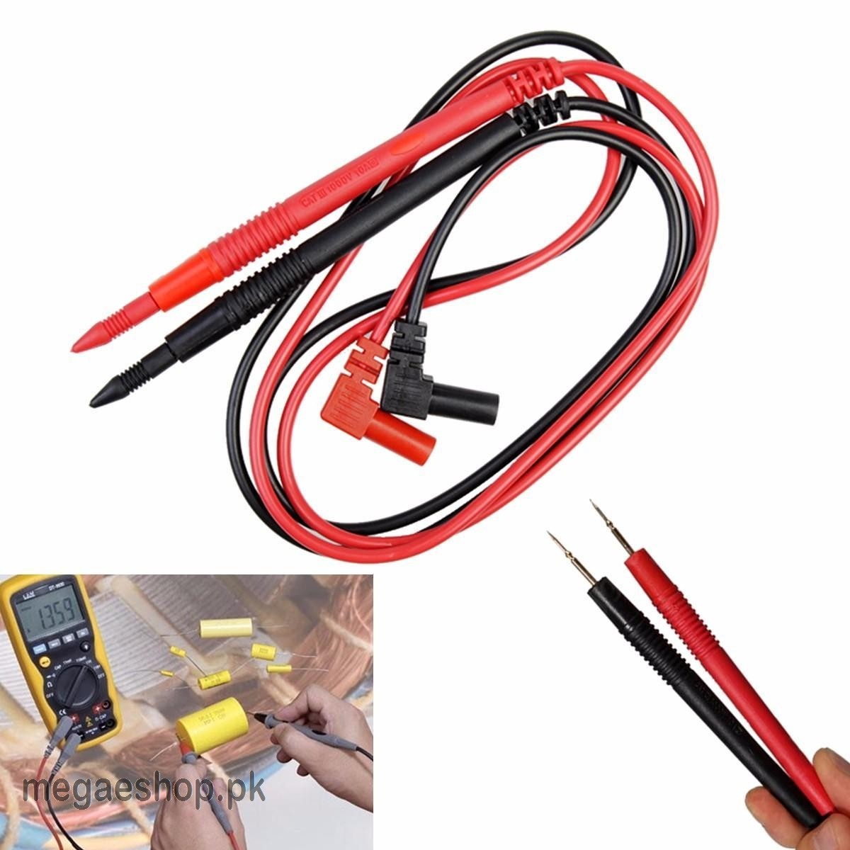 10A 90cm Probe Test Leads Pin For Digital Multimeter Meter