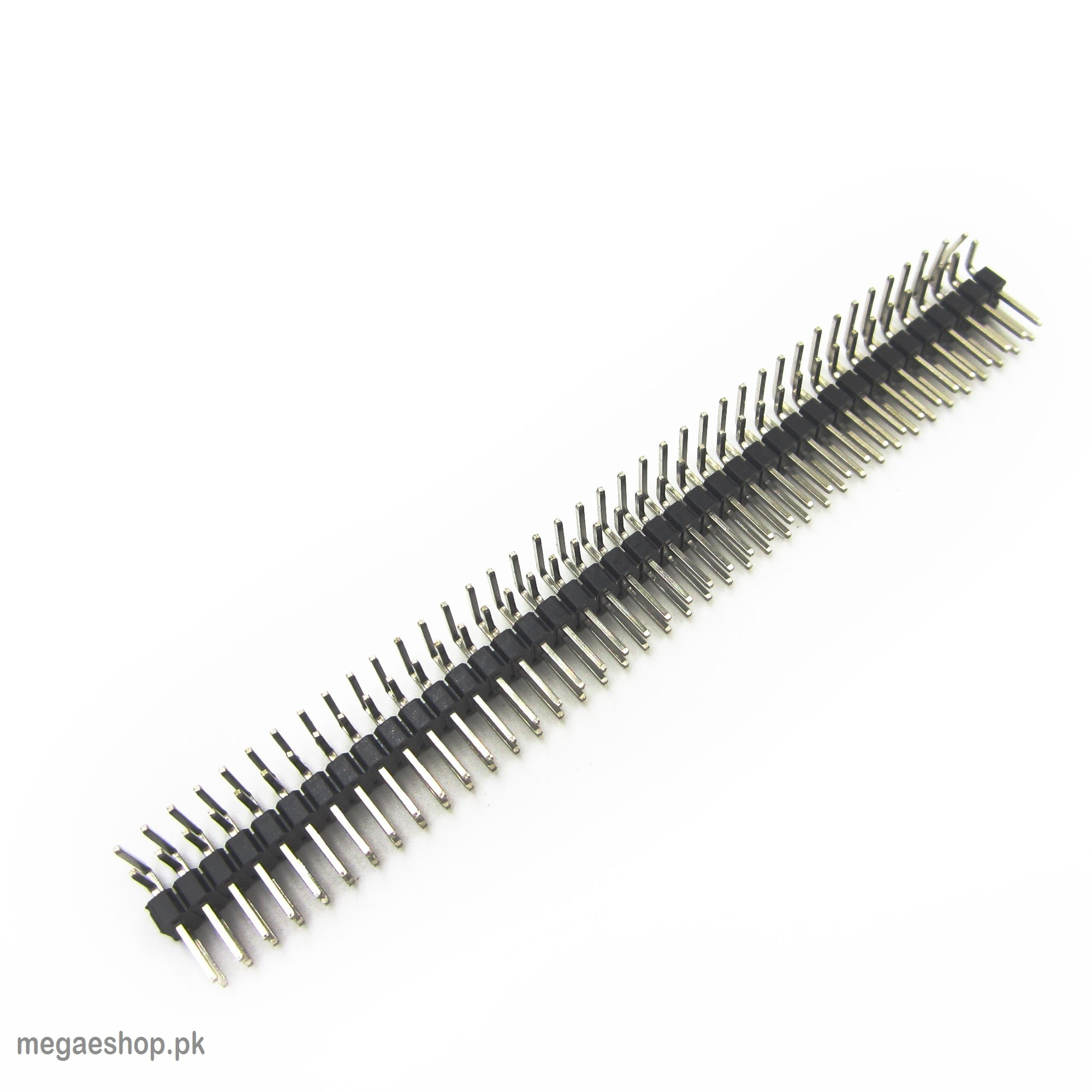 2.54mm 2x40 Pin Male Double Row Right Angle Pin Header Strip