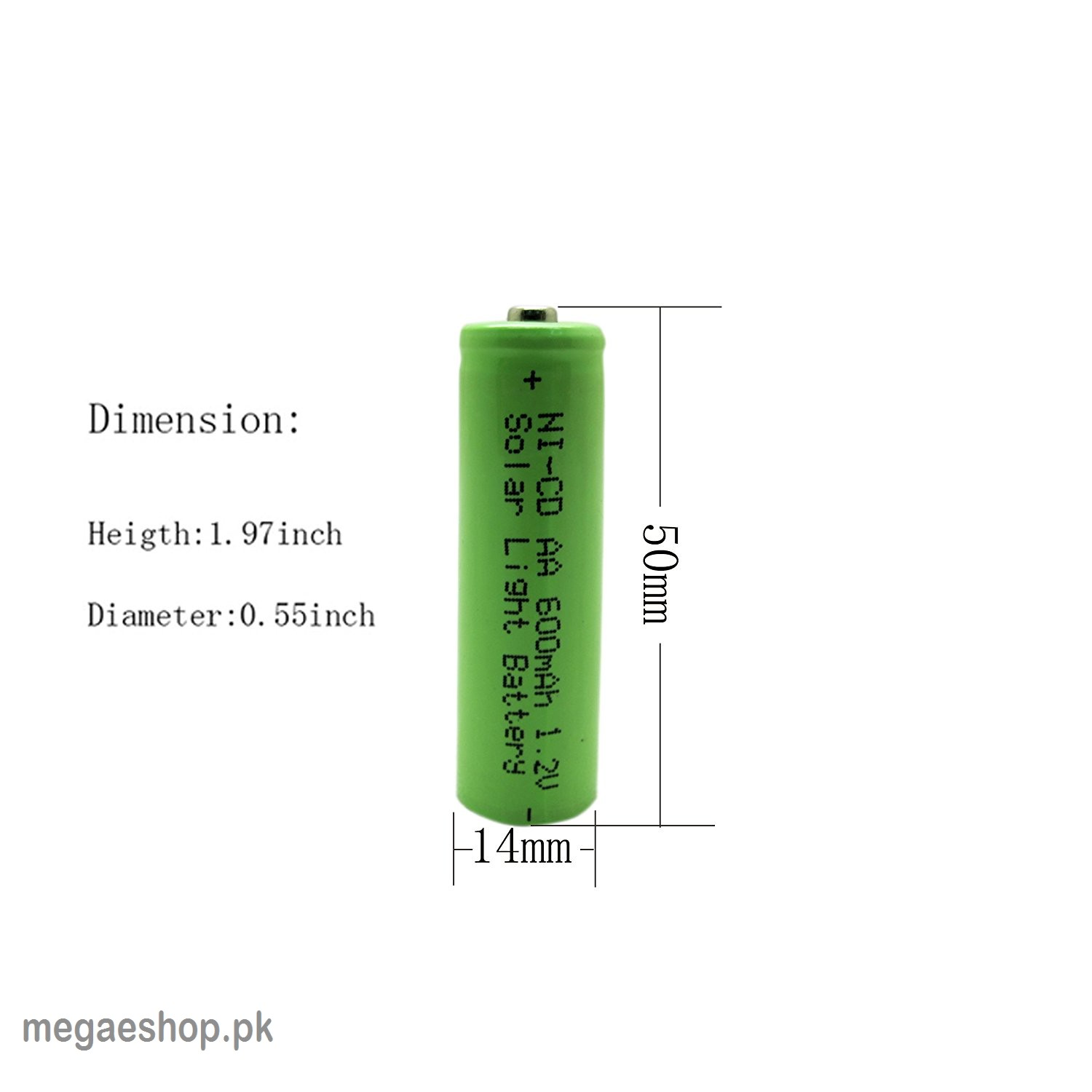 AA 600mAh 1.2V AA Ni-Cd Rechargeable High Quality batteries