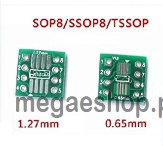 SOP8 turn DIP8 / SOIC8 to DIP8 IC adapter Socket so8/tssop8/soic8/sop8 TO without pin