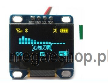 OLED Display Module 12864 0.96 Inch 4Pin Blue IIC I2C LED For Arduino