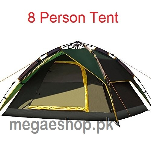 8 Person Automatic Dome Tent Double-Layer Waterproof Tent for Camping Hiking