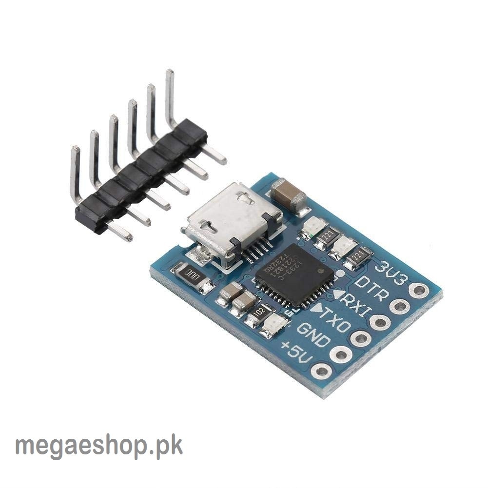 Micro USB 6Pin Serial Converter STC CP2102 USB 2.0 to UART TTL adapter module to replace FT232 with pins