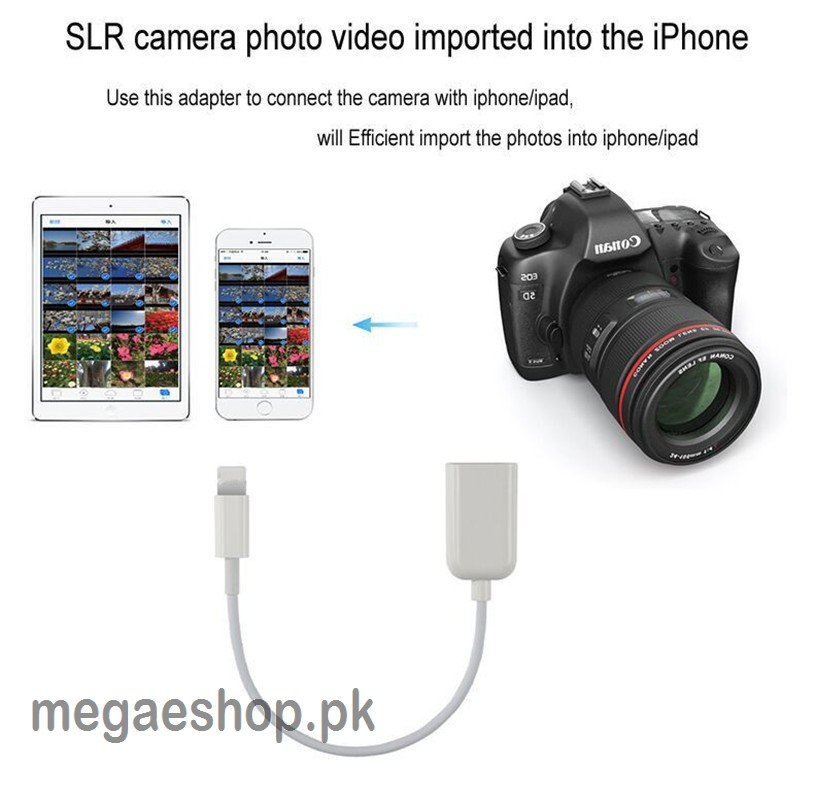 iPhone otg Cable Lightning to USB Camera Adapter