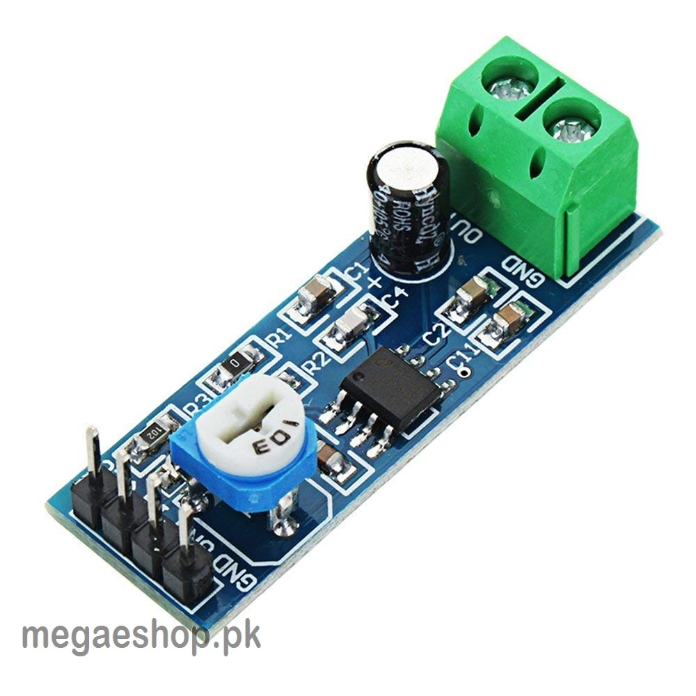 LM386 Audio Amplifier Amplitude Module Board with Adjustable Resistance Control Potentiometer for Arduino Raspberry Pi or Musical Projects