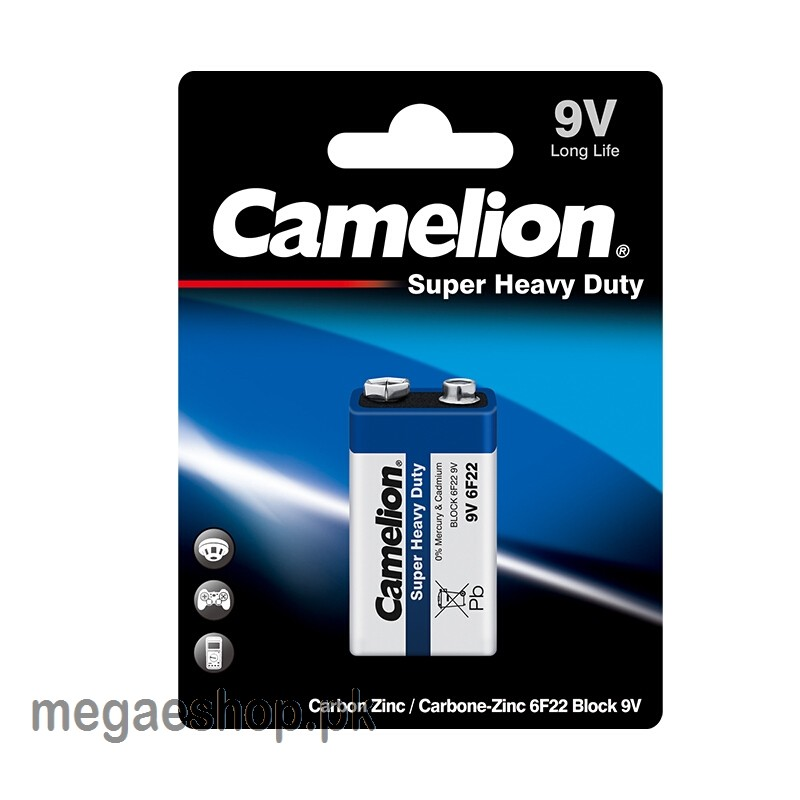 Camelion Battery Super Heavy Duty Blue - 6F22 9V