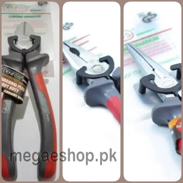 Pack of 3 Pliers DENFOS (Combination,Cutter,Nose)