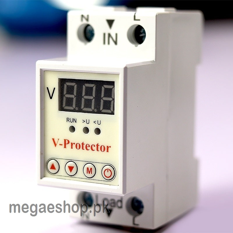 40A 230V Adjustable Voltage Over And Under Protector Relay Breaker with Over Current Protection