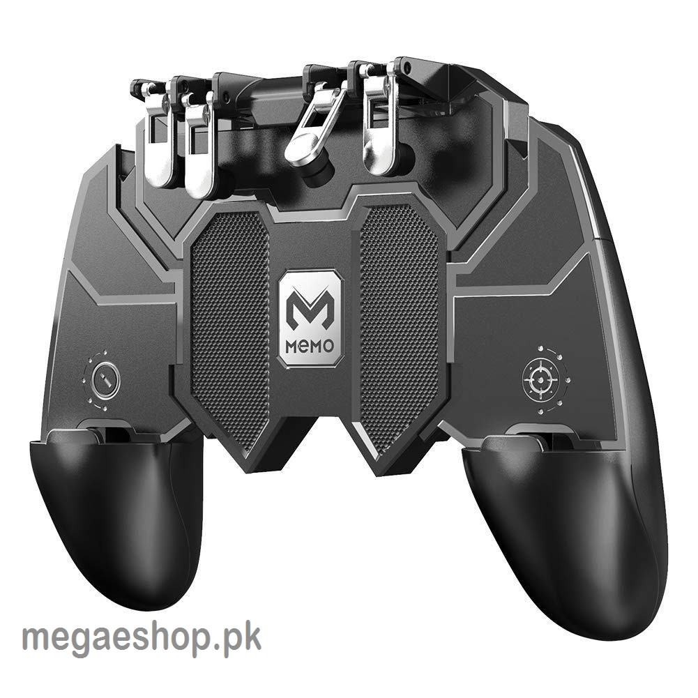 AK66 Mobile Game Controller Trigger Six Finger All-in-one Joystick Gamepad for PUBG