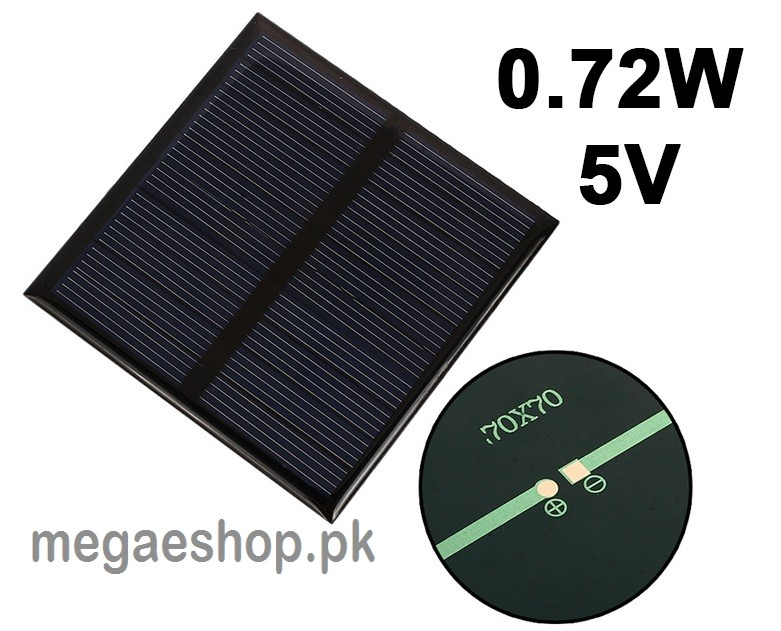 Portable 0.72W 5V Mini Solar Panels