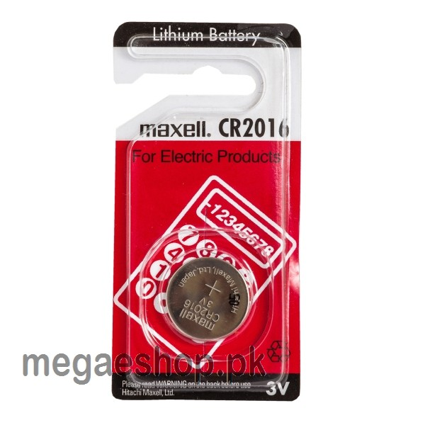 Maxell CR2016 Genuine 3V Lithium Coin Cell