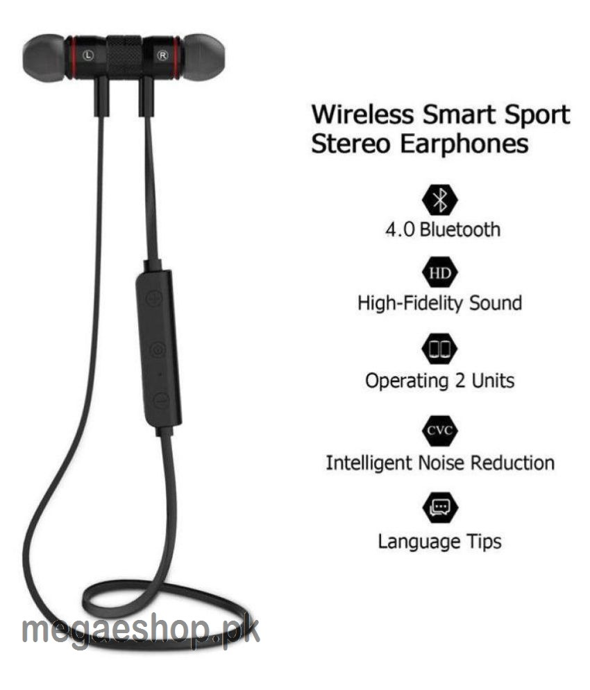 Metal Sports Bluetooth Headphone Noise Proof Earphone Magnetic Headset Sport Earpiece Stereo Wireless Buy In Pakistan