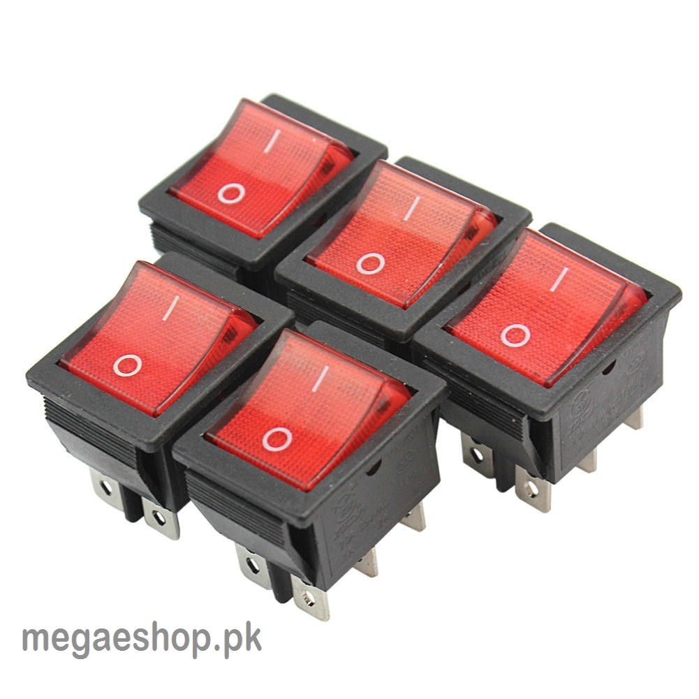 Boat Square On-Off Press Button 6 Pins Rocker Switches Toggles AC 250V 16A