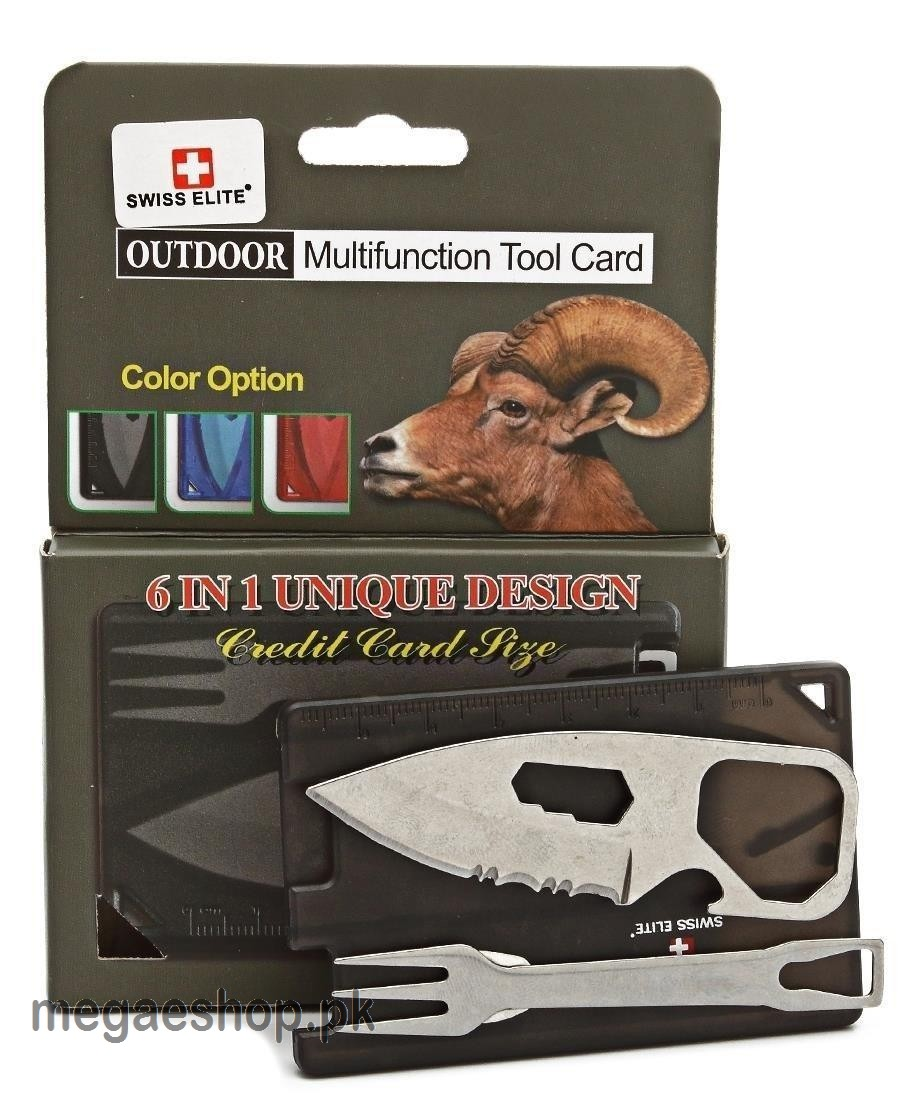 Swiss+Tech 6 in 1 Multi-function Card - Multicolor