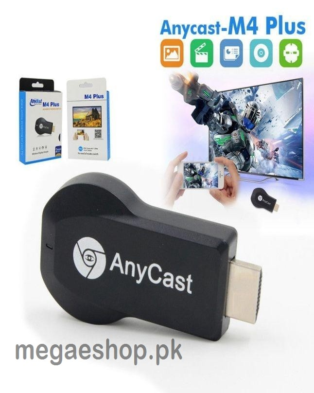 Any Cast M4 Plus Mobile Screen On LCD LED TV HDMI Dongle New Model 2OTA Core