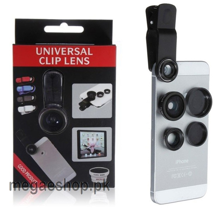 3 in1 Fisheye Macro Wide Angle Mobile Phone Camera Lens Clip Set Fish Eye Lens for Cell Phone Camera
