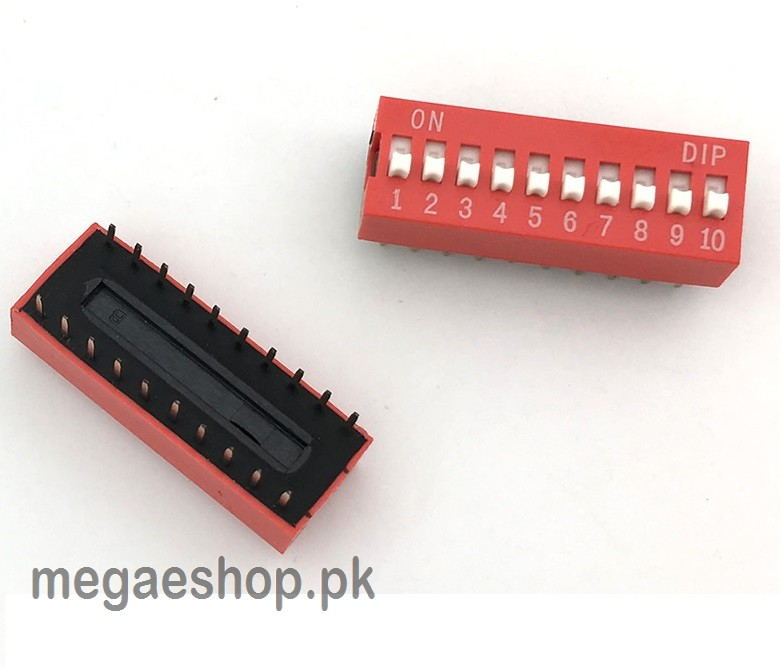 DIP Switch Slide Type 2.54mm Pitch 2 Row DIP Toggle switches 10p