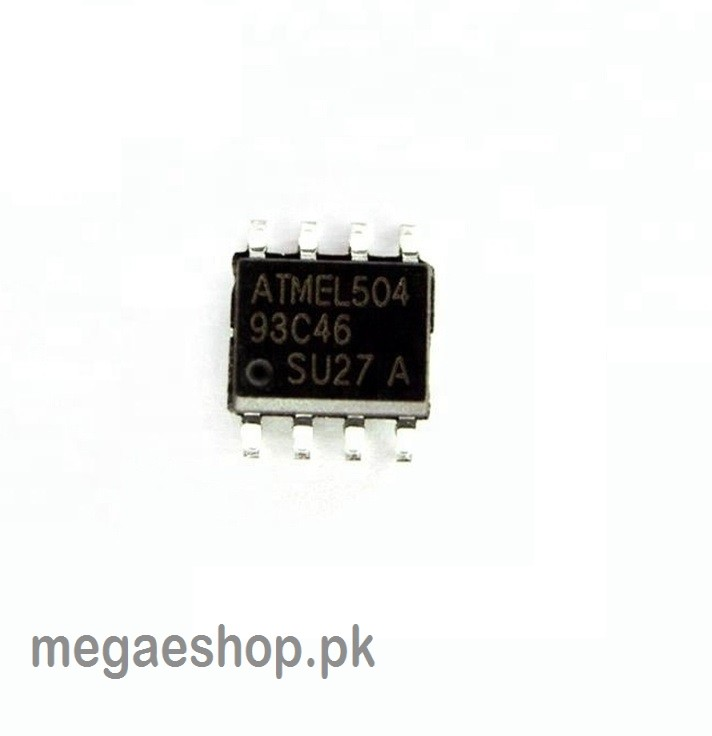 IC/SMD 93C46 EEPROM 1K SPI 2MHZ 8SOIC AT93C46-10SU-2.7